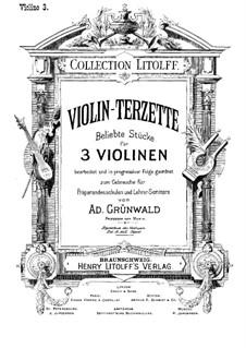 Violin-Terzette. Book III: partitura completa by Joseph Haydn, Wolfgang Amadeus Mozart, Franz Schubert, Felix Mendelssohn-Bartholdy, Carl Maria von Weber