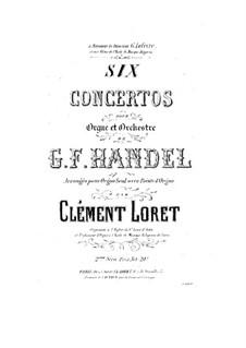 Complete set, HWV 306-311: para orgão solo by Georg Friedrich Händel
