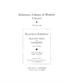 Selected Pieces for Piano: Volume I by Halfdan Kjerulf