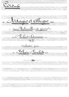 Adagio and Allegro, Op.70: For cello and orchestra – french horns part by Robert Schumann