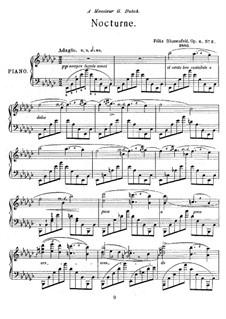 Two Nocturnes, Op.6: Nocturne No.2 in E Flat Minor by Felix Blumenfeld