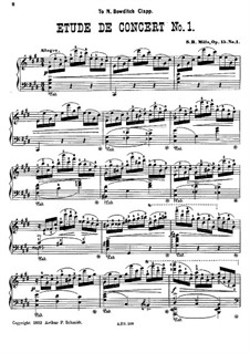 Two Concert Etudes, Op.15: set completo by Sebastian Bach Mills