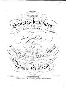 Three Brilliant Sonatas for Guitar, Op.96: set completo by Mauro Giuliani