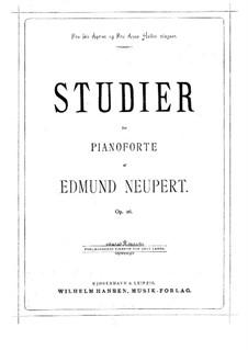 Eight Etudes, Op.26: Eight Etudes by Edmund Neupert