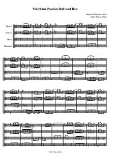 Nr.6 Buß und Reu: Für Holzbläser Quartett by Johann Sebastian Bach