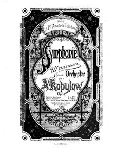 Symphony C Minor, Op.14: para piano de quadro mãos by Alexander Kopylov