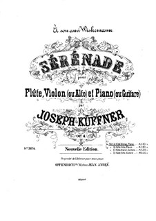 Serenade for Flute, Viola and Guitar, Op.4: parte piano by Joseph Küffner
