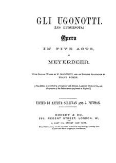 Les Huguenots: ato I by Giacomo Meyerbeer
