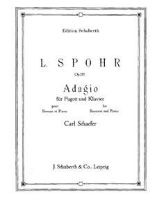 Sonata for Violin and Harp No.4 in F Major, Op.115: Version for bassoon and piano – solo part by Louis Spohr