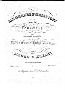 Six Grand Variations, Op.112: Para Guitarra by Mauro Giuliani