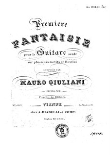 Fantasia for Guitar No.1, Op.122: Fantasia for Guitar No.1 by Mauro Giuliani
