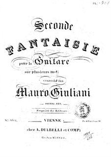 Fantasia for Guitar No.2, Op.123: Fantasia for Guitar No.2 by Mauro Giuliani