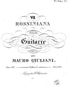 Rossiniana No.6, Op.124: Rossiniana No.6 by Mauro Giuliani