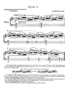Twenty-Five Easy Etudes, Op.100: Para Piano by Henri Jérôme Bertini