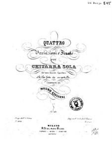 Four Variations for Guitar, Op.140: quatro variações para guitarra by Mauro Giuliani