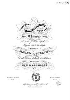 Four Variations for Guitar, Op.144: quatro variações para guitarra by Mauro Giuliani