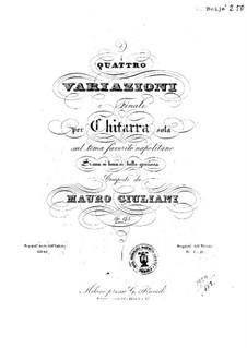 Four Variations for Guitar, Op.145: quatro variações para guitarra by Mauro Giuliani