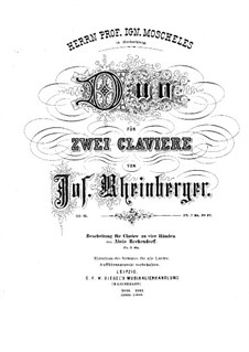 Duo for Two Pianos Four Hands, Op.15: Duo for Two Pianos Four Hands by Josef Gabriel Rheinberger