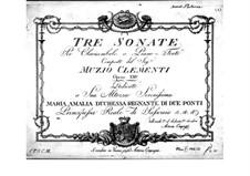 Three Sonatas, Op.23: Three Sonatas by Muzio Clementi