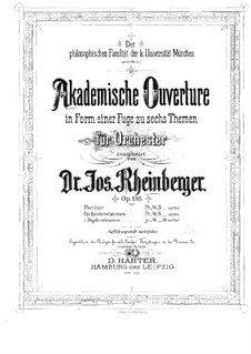 Academic Overture, Op.195: Academic Overture by Josef Gabriel Rheinberger