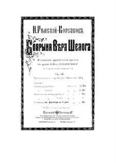 The Noblewoman Vera Sheloga, Op.54: Overture, para piano para quatro mãos by Nikolai Rimsky-Korsakov