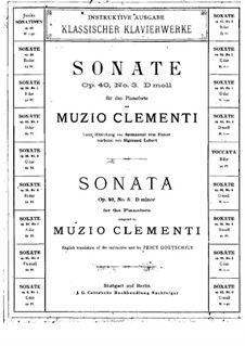 Three Sonatas, Op.40: Soneto No.3 by Muzio Clementi