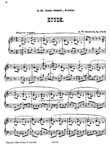 Six Characteristic Pieces, Op.7: No.6 Etude by George Whitefield Chadwick