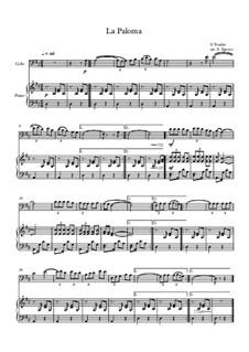 10 Easy Classical Pieces For Cello & Piano Vol.5: La Paloma by Wolfgang Amadeus Mozart, Franz Schubert, Antonín Dvořák, Georges Bizet, Georg Friedrich Händel, Giuseppe Verdi, Pyotr Tchaikovsky, Émile Waldteufel, Adolphe Adam, Sebastián Yradier