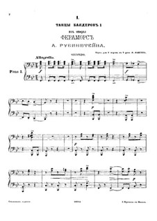 Feramors: Danses des bayadères No.1, for two pianos eight hands – piano I part by Anton Rubinstein