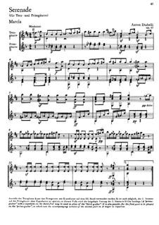 Serenade for Terz and Prime Guitar, Op.63: partitura para dois musicos by Anton Diabelli