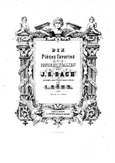Ten Pieces Favorites: arranjos para piano de quatro mãos by Johann Sebastian Bach