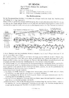 Violin School for Beginners, Op.6: Livro texto by Otakar Ševčík