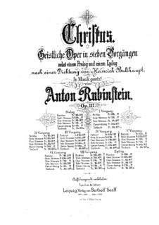 Christus, Op.117: para solistas,coral e piano by Anton Rubinstein