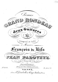 Grand Rondo for Two Guitars, Op.10: Partes by Ivan Padovec