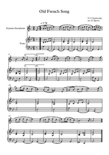 10 Easy Classical Pieces For Soprano Saxophone & Piano Vol.5: Old French Song by Wolfgang Amadeus Mozart, Franz Schubert, Antonín Dvořák, Georges Bizet, Georg Friedrich Händel, Giuseppe Verdi, Pyotr Tchaikovsky, Émile Waldteufel, Adolphe Adam, Sebastián Yradier