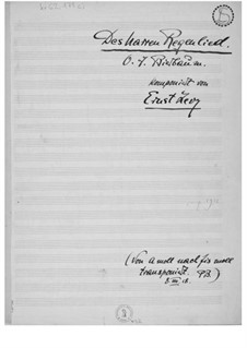 Des Narren Regenlied: F Sharp Minor by Ernst Levy