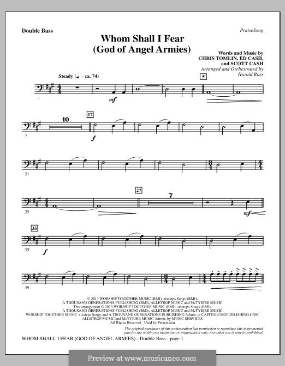 Whom Shall I Fear (God of Angel Armies): Parte contrabaixo by Chris Tomlin, Ed Cash, Scott Cash