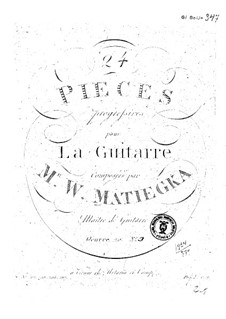 Twenty-Four Progressive Pieces: book III by Wenzel Thomas Matiegka