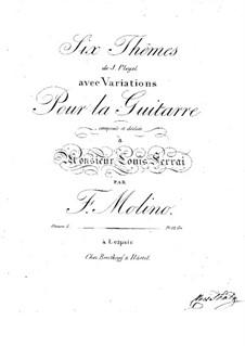 Six Themes of J.Pleyel with Variations, Op.5: Para Guitarra by Francesco Molino