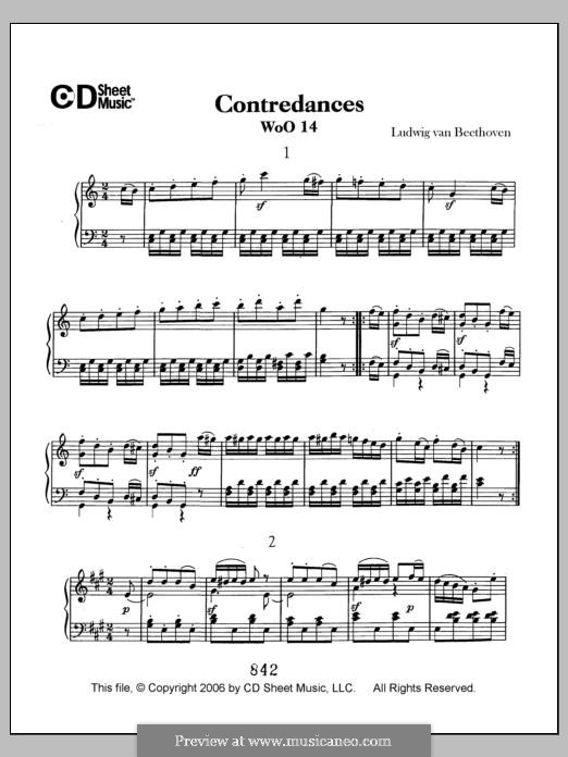 Twelve Contredanses for Orchestra, WoO 14: set completo by Ludwig van Beethoven