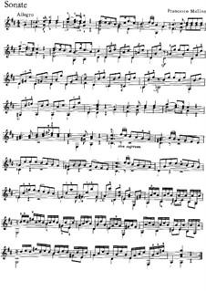 Three Easy Sonatas, Op.1: Soneto No.3 by Francesco Molino