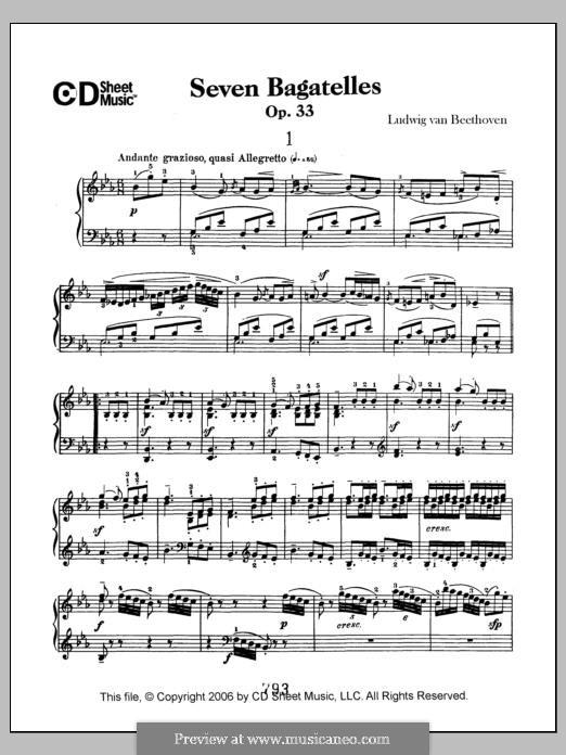Bagatelles, Op.33: set completo by Ludwig van Beethoven