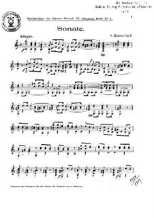 Grand Sonata in A Minor, Op.7: Para Guitarra by Simon J. Molitor