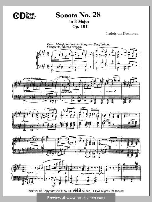 Sonata for Piano No.28, Op.101: para um único musico (Editado por H. Bulow) by Ludwig van Beethoven