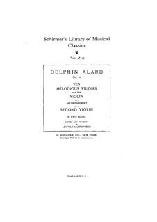 Ten Melodious and Progressive Studies, No.1-5, Op.10: Ten Melodious and Progressive Studies, No.1-5 by Jean Delphin Alard