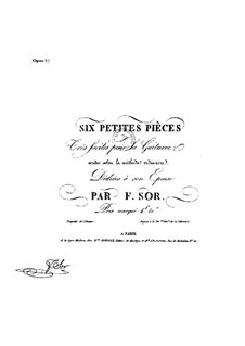 Six Little and Easy Pieces, Op.5: set completo by Fernando Sor