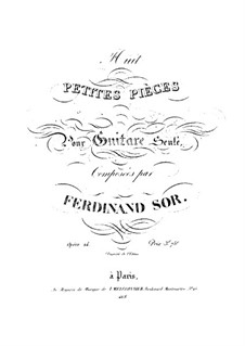 Eight Little Pieces, Op.24: set completo by Fernando Sor