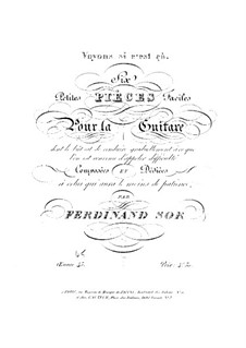 Six Little and Easy Pieces, Op.45: set completo by Fernando Sor