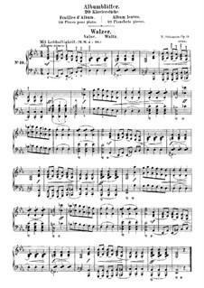 Album Leaves, Op.124: No.10 Waltz by Robert Schumann