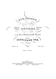 Six Waltzes and Galop, Op.57: For a single performer by Fernando Sor